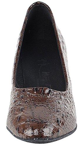 Very Fine Shoes Salsera Series SERA5513 Coffee Brown Croc v1SLZTqC