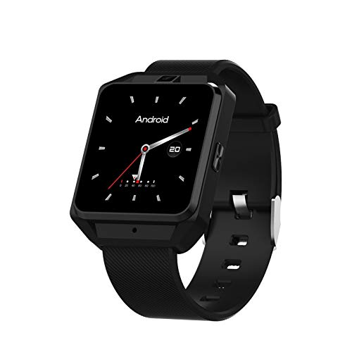 Kariwell 1.54'' Touch Screen Sport 4G Smart Watch - GPS/WiFi/Heart Rate Monitor/Sleep Monitor/Barometer/Thermometer/Compass/Sports Management/Smart Watch for Android Kari-212 (Black)