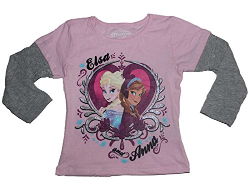 Disney Frozen Anna and Elsa Long Sleeve Shirt (2T-4T)