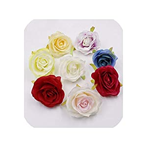 END GAME 2pcs 8cm Silk Rose Artificial Flowers Wedding Party Home DIY Wreath Crafts Quality Simulation Flower 60