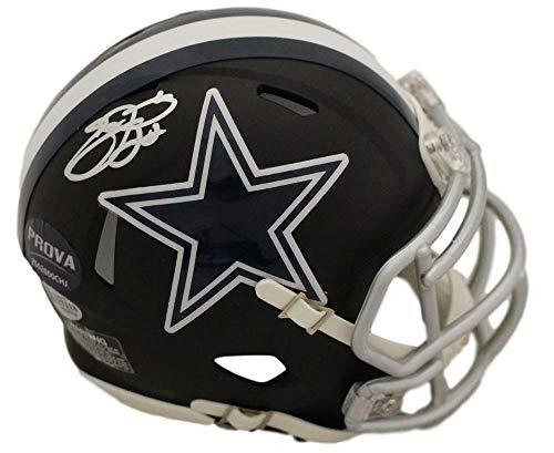 Emmitt Smith Autographed/Signed Dallas Cowboys Black Mini Helmet BAS