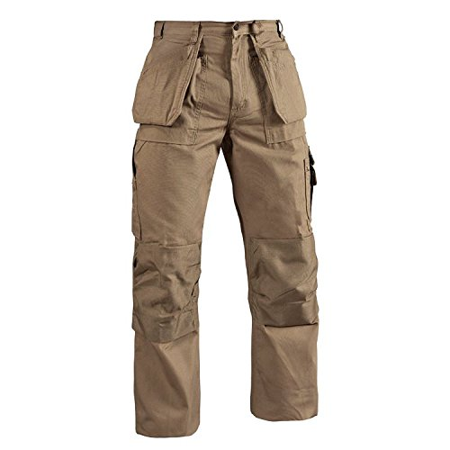 Blaklader Workwear Bantam Pant with Utility Pockets, 32-Inch Waist, 28-Inch Length, 8-Ounce Cotton - Khaki by Blaklader Workwear