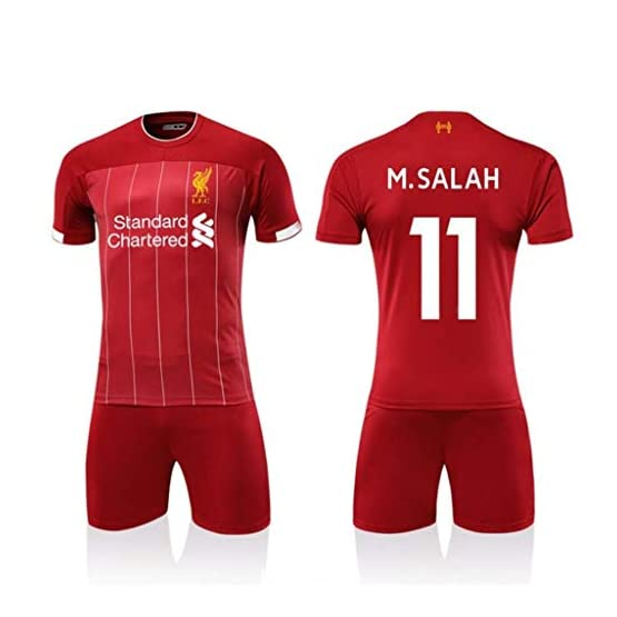 LVP Maillot Domicile 19-20 De Liverpool, 11e, 10e, Combinaison De Football, Short à Manches Courtes