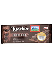 Loacker Premium Double Chocolate Wafer Cookies, 175g/6.17oz, Double Chocolate, 175 Grams