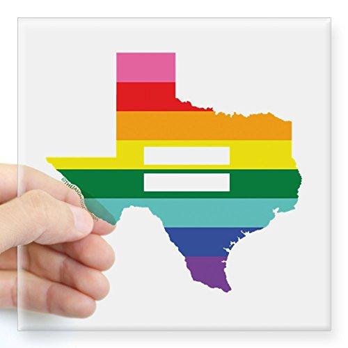 CafePress Texas Equality Sticker Square Bumper Sticker Car Decal, 3