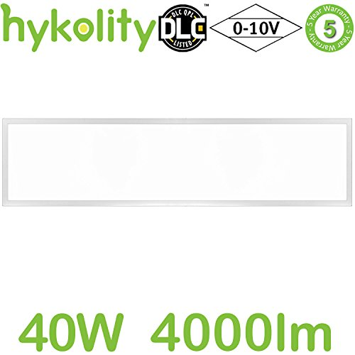 Hykolity 1x4 FT 40W 4000lm 4000K Ultra Slim Flushmount built-in driver LED Flat Panel troffer Light, Residential Surface mount/Commercial Drop Ceiling Dimmable Ceiling Fixture ETL Listed (1 Drop Ceiling Light Fixture)