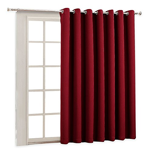 Vertical Blinds for Large Windows - Back Door Decoration Gazebo Patio Door Energy Smart, Keep Warm Holiday Blackout Curtains Extra Wide Long Panel for Good Sleep, 100