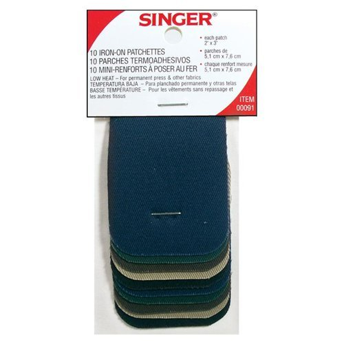 Singer Iron-on Patchettes 10CT (Pack of 18)