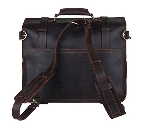 Crazy A Deep Coffee Leather Uomo Insun Borsa Horse Zainetto F5YxwOz