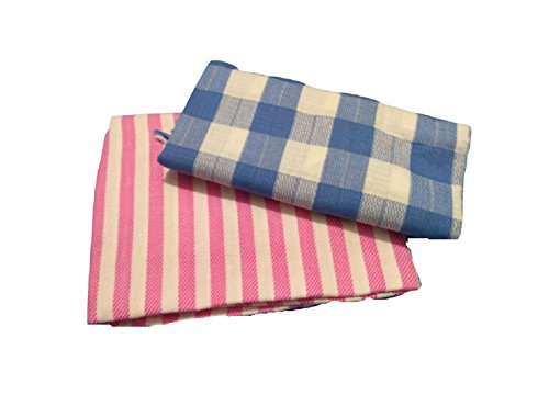 Cotton Colors 100% Cotton Bath Towels(Size: 30*60 Inches)-Pack of 2 Pieces,D143