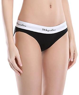 Wingslove 3 Pack Women's Underwear Modern Cotton Bikini Seamless Panties