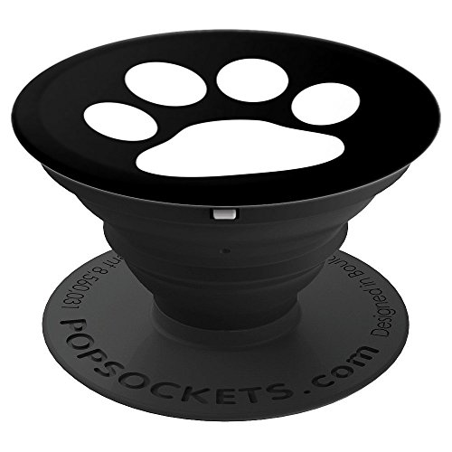 Paw Print Collapsible - White Paw Print - PopSockets Grip and Stand for Phones and Tablets