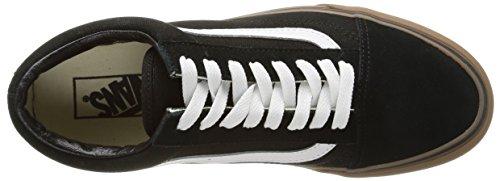 Vans U Old Skool Scarpe da Ginnastica Basse, Unisex Adulto Nero (Gumsole/Black/Medium Gum)