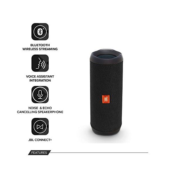 JBL Flip 4 - enceinte Bluetooth Portable Robuste - Étanche Ipx7 pour Piscine & Plage - Autonomie 12 Hrs - Qualité Audio JBL - Noir 3