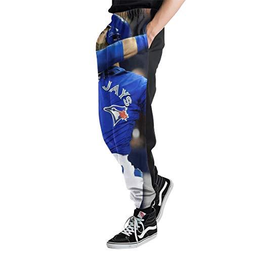 Lovesofun Toron-to Blue Jay-s Men's Casual Jogger Sweatpants Sports Trousers Pant Elastic Waist XXL ()