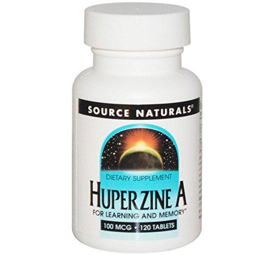 Huperzine A, 100 MCG, 120 tabs (Pack of 2) (120 Mcg Naturals Tabs Source)