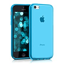 kwmobile Crystal Case Cover for Apple iPhone 5C made of TPU Silicone - transparent clear Protection Case in light blue