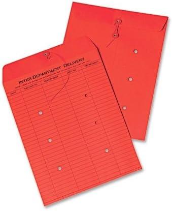 QUA63574 Colored Paper String amp; Button Interoffice Envelope