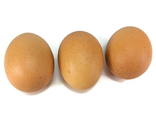 Egg Artificial Lifelike Simulation Faux Fake Chicken Egg 3 Pieces (Chicken Egg Bag)