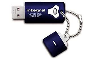 Integral 16GB Crypto Dual FIPS 197 - Memoria USB de 16 GB (USB 2.0, con tapa), azul