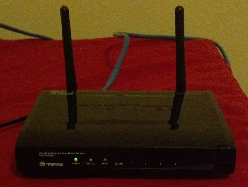 TRENDnet 300 Mbps Wireless N Home Router TEW-652BRP (Black)