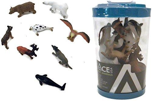 8 Piece Rubber Alaskan Animal's Toy Set