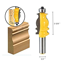 Multifunctional Carpenter edge cutter 1/2 Shank Woodworking Architectural Molding Router Bit Ogee Chisel Cutter Tool -Pier 27