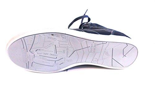 Bullboxer Schnürboot, Antikleder blau, herausnehmbares Fußbett für eigene lose Einlagen, 499-K50754A