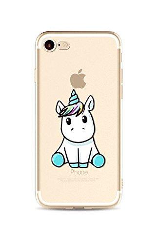 Cloverfrance BéBé Licorne® - Cover per iPhone, ultra sottile, disegno di qualità superiore, Silicone, azzurro, IPHONE 6-6s