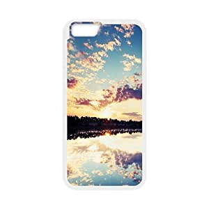 Okaycosama Funny IPhone 6 Cases Nature Wall Reflection Cute for Girls, Iphone 6 Cases for Girls Cheap, [White]