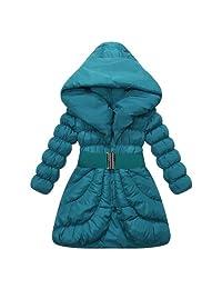 Richie House Girls' Padding Jacket Buckle Belt Size 3-14