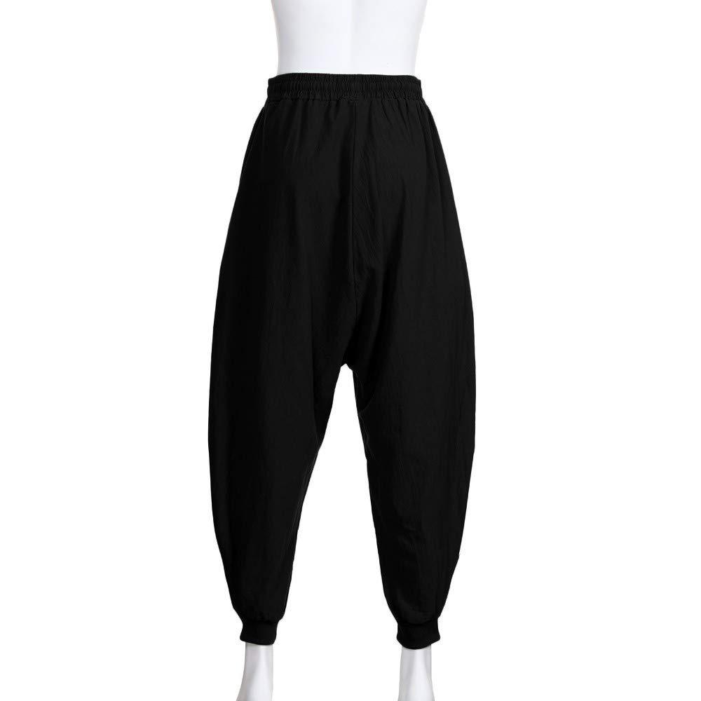 Amazon.com: Mens Yoga Pants Womens Cotton Solid Aladdin ...