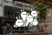 25cm Peeps Rabbits JDM Bunnies Vinyl Stickers Funny Decals Bumper Car Auto Computer Laptop Wall Window Glass S