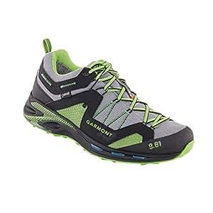Garmont Mens 9.81 Trail Pro III GTX Hiking Shoes, Black/Green, 9.5