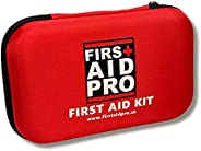 FIRST AID PRO - First Aid Kits. All Purpose for work, office. Travel size for sports, hiking, camping, car. Em