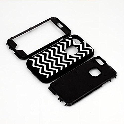 iPhone 6 Case Plus, Lantier [3 en 1 Shield Series] Wavws conception hybride motifs Cover boîtier en plastique dur avec étui en silicone souple intérieure (5.5 pouces) Pour Pour iPhone 6 / 6S plus Viol