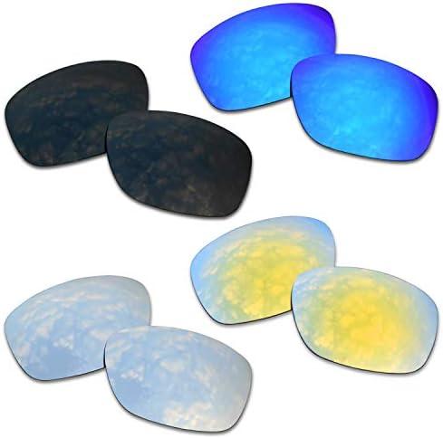 SOODASE Pour Oakley Ten X Des lunettes de soleil Bleu/Noir/Doré/Argenté Verres de remplacement polarisés