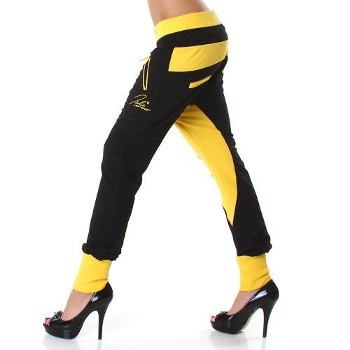 JELA London - Pantalón - para mujer Black-Yellow