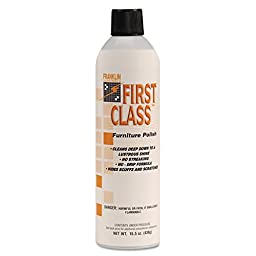 Franklin Cleaning Technology F801015 First Class Furniture Polish, Lemon, 15.5 oz. Aerosol Can (Pack of 12)