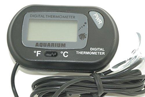 LCD Gauge Probe Sensor Digital Temperature for Aquarium Terrarium Fish Tank Heaters,Reptile,Hatching Thermometer,Pool Spa Fish Pond Tank,Fridge Freezer Keg Beer Tap Home Brew ()