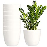 Youngever 8 Pack 5.5 Inch Plastic Planters Indoor