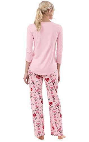 PajamaGram Exclusively Licensed: I Love Lucy PJs for Women, Pink, LRG (12-14) by PajamaGram (Image #1)