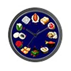CafePress - Sushi Wall Clock With Numbers - Unique Decorative 10 Wall Clock