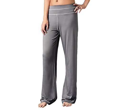 SHEEX Women's Lounge Pant With Enhanced Breathability, Graphite (Medium) (Rollover Pants Lounge)