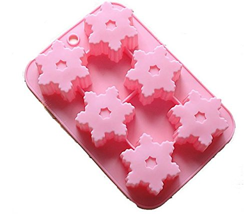 Generic Silicone Baking Snowflake Cups Cupcake Cake Pan Molds Storage Container Handmade Soap Mould Jelly Chocolate Pudding Tools