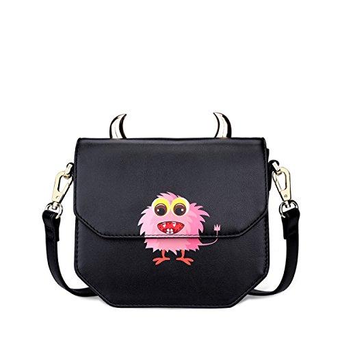 FZHLY Frau Mini Schultertasche Cute Print Messenger Bag