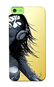 Stylishgojkqt Hot Tpye Girl With Headphones Dancing Case Cover For Iphone 5c For Christmas Day's Gifts