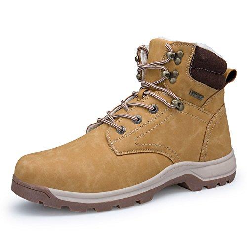 Rioneo de Negro Impermeables Deportes Nieve Sneakers 39 Khaki Khaki Hombre Marrón Forro Trekking Piel Botas 46 Zapatos Senderismo r7fwxrqEX