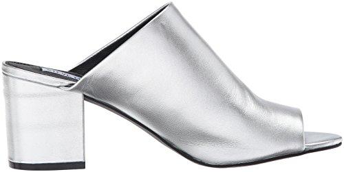 Zapatilla de faja Steve Madden Infinity en piel laminada plata Plata