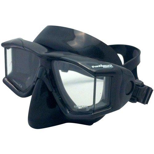 Genesis Panview Purge 2 Dive Mask, Black Silicone ()